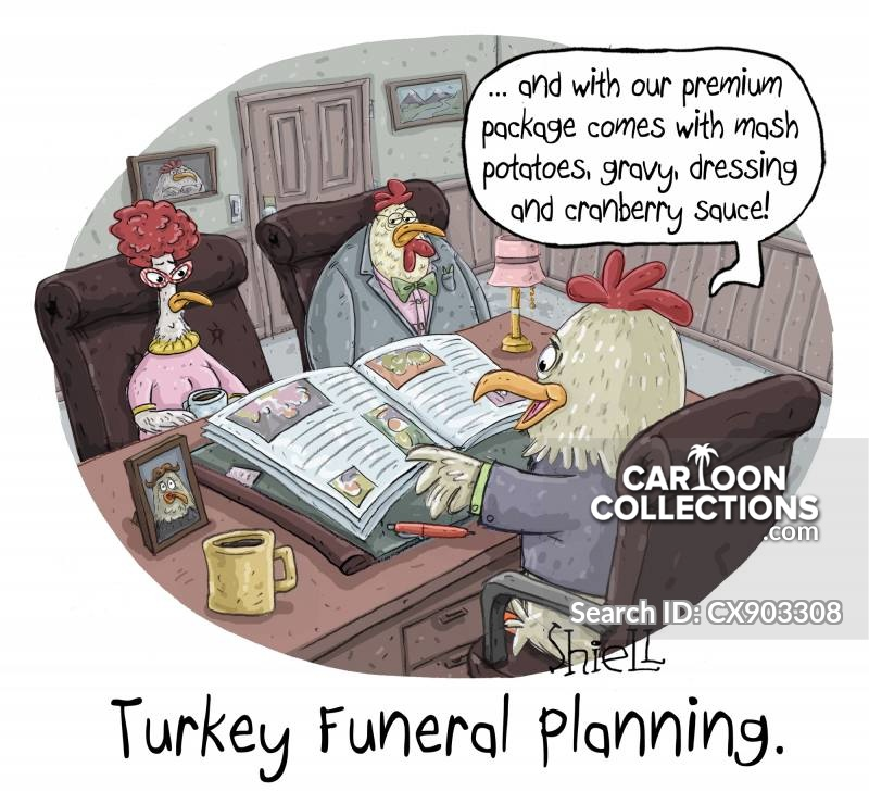 funeral planners cartoon