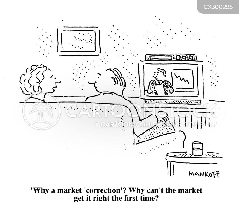 market correction cartoon