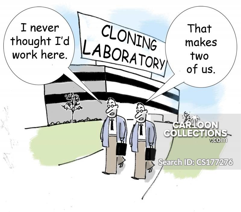 Cloning Laboratory cartoon