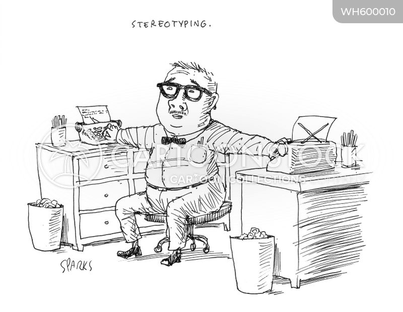 typing cartoon