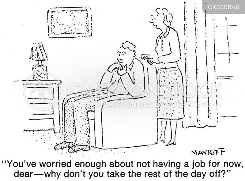 job seeker cartoon