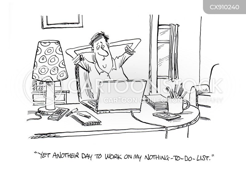 wasting time cartoon