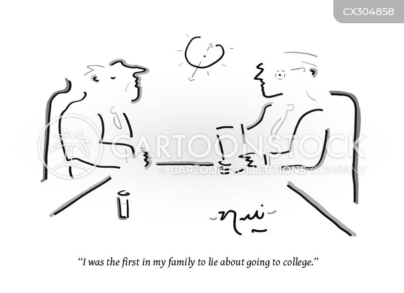 college cartoon