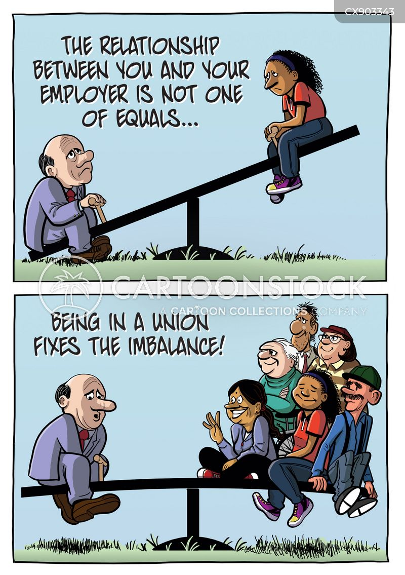 worker right cartoon