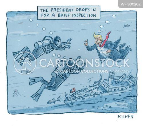 divers cartoon