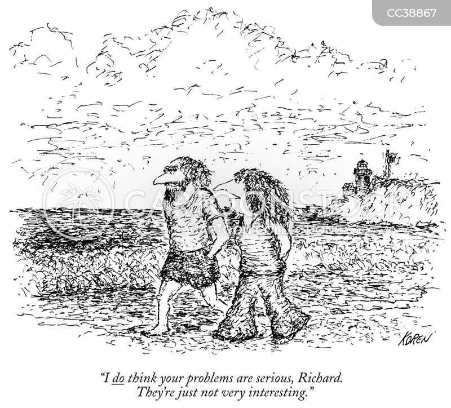 uninterested cartoon