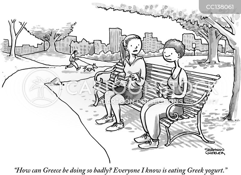 greek yogurt cartoon