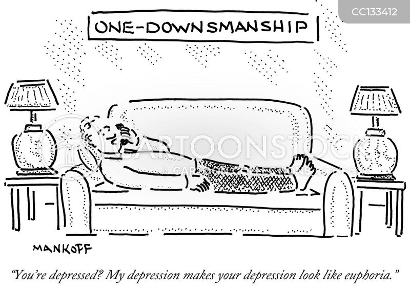 Downsmanship cartoon