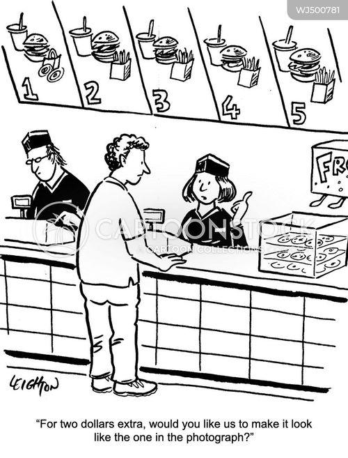 fast food chain cartoon