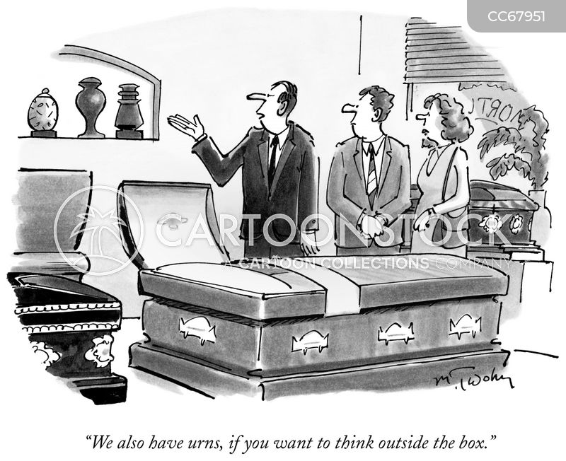 funeral plan cartoon