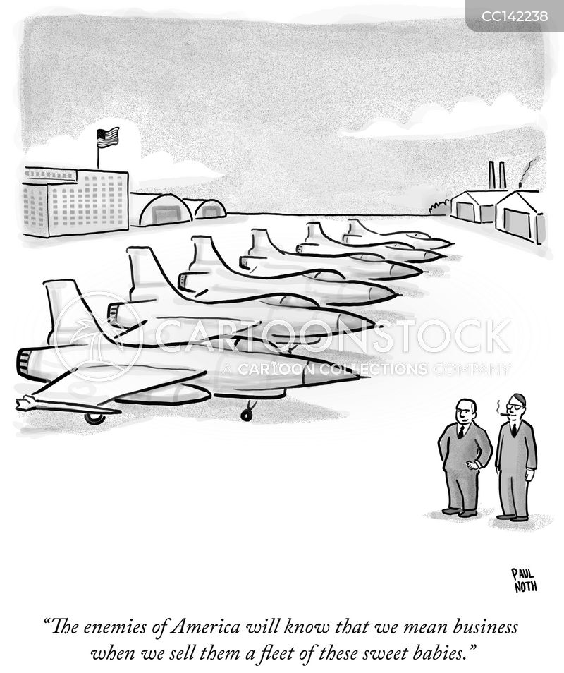 war economy cartoon