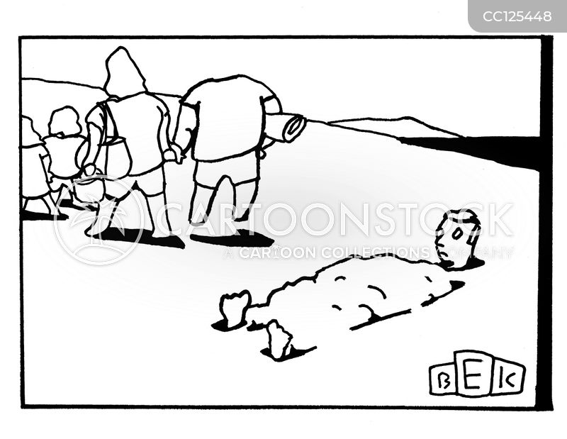 buried cartoon