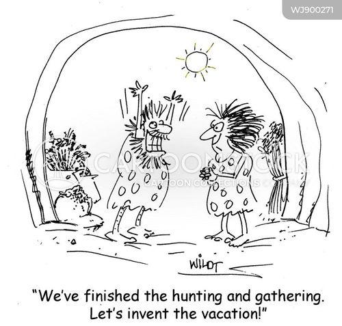 gatherers cartoon