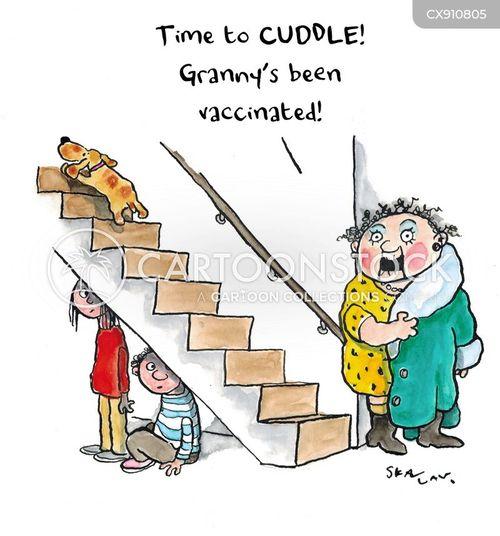 vaccinating cartoon