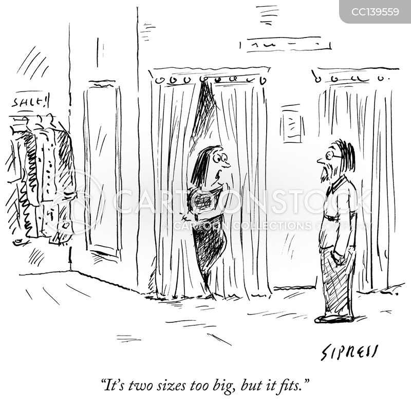 Dressing Room cartoon