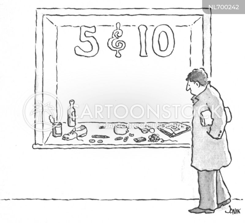 variety stores cartoon