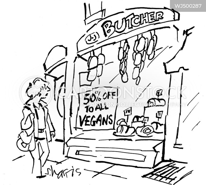 vegans cartoon
