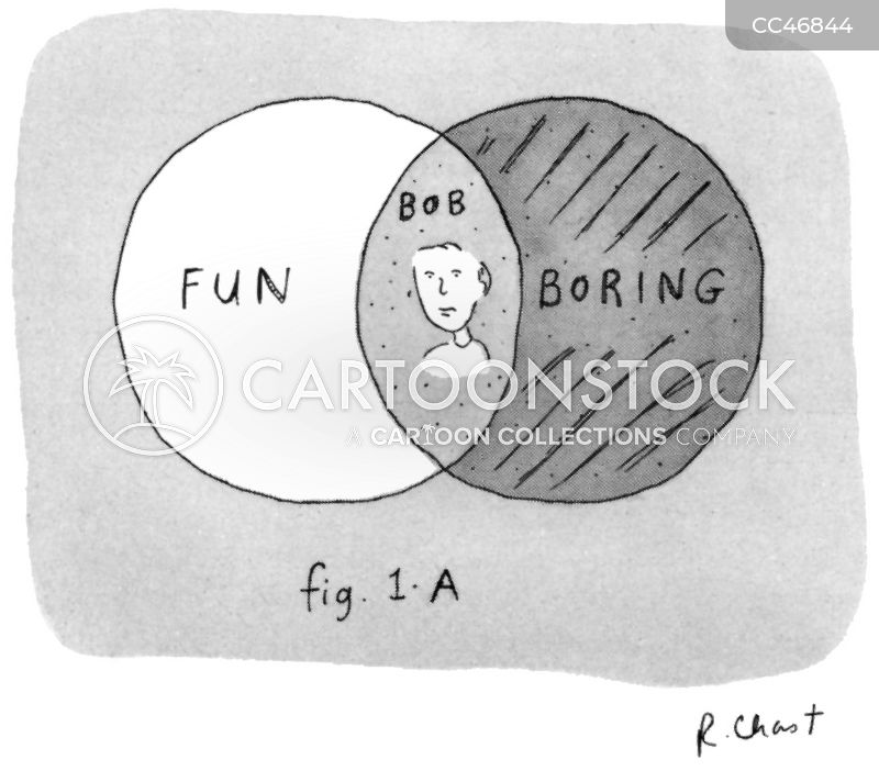 boring person cartoon