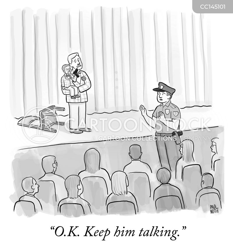 keep him talking cartoon