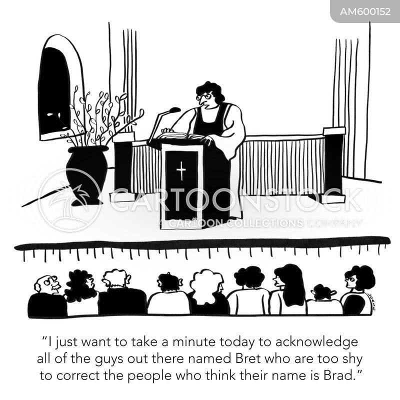 church service cartoon