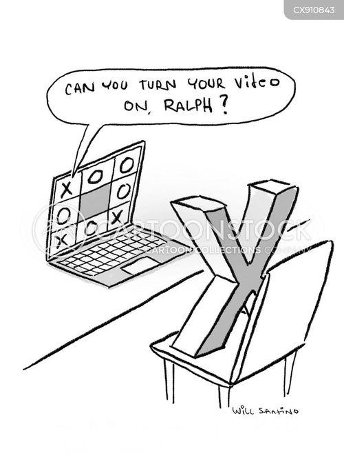turning on cartoon