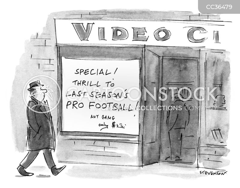 video rental cartoon