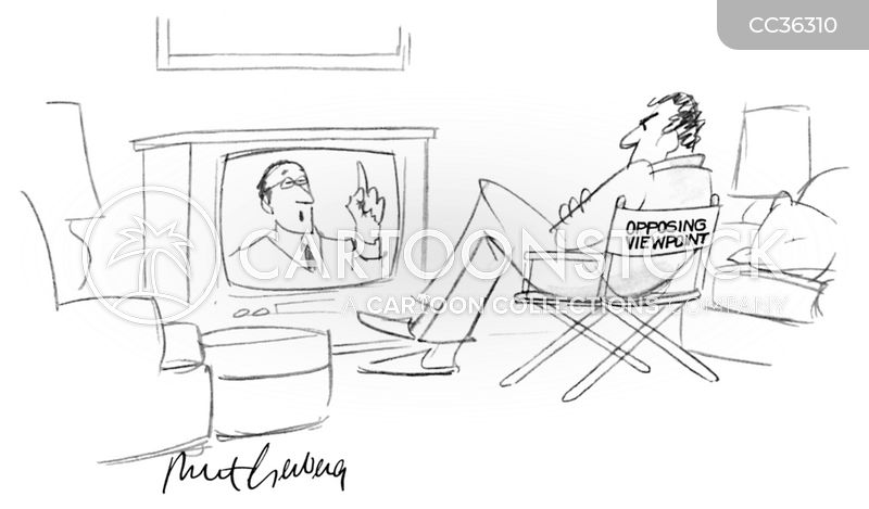 opposing views cartoon