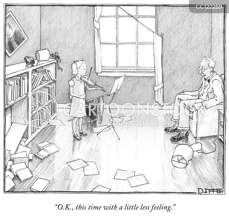 Violin Teacher cartoon