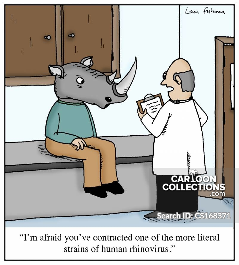 Rhinovirus cartoon