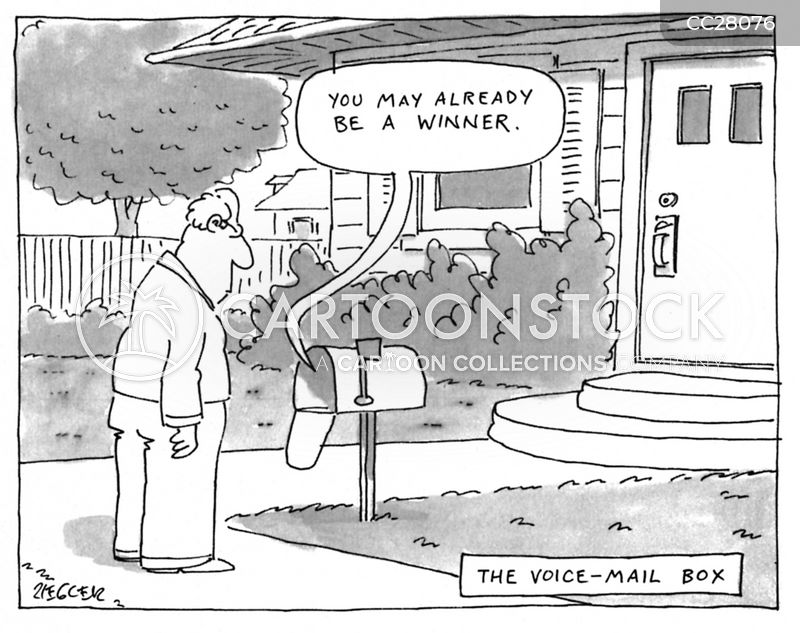 Voice-mail cartoon