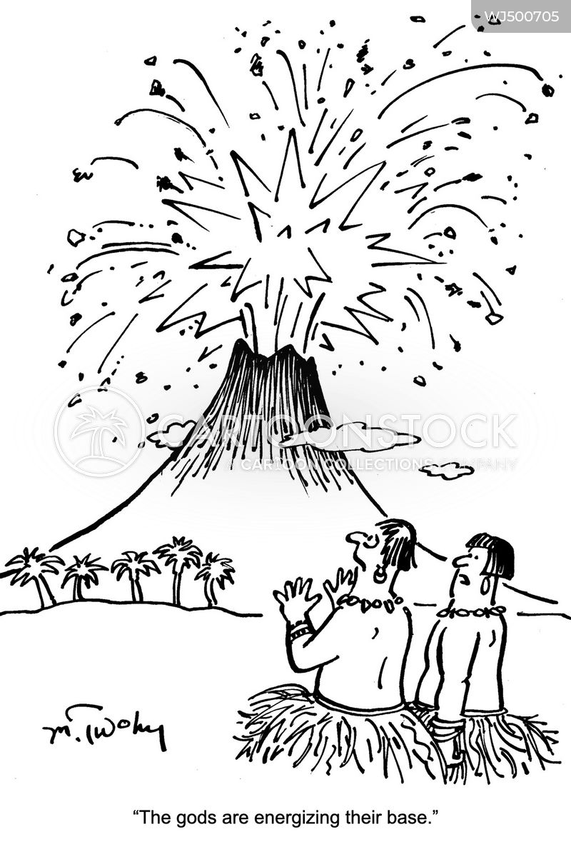 eruptions cartoon