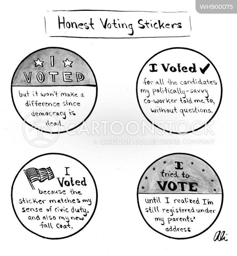 voter turnouts cartoon