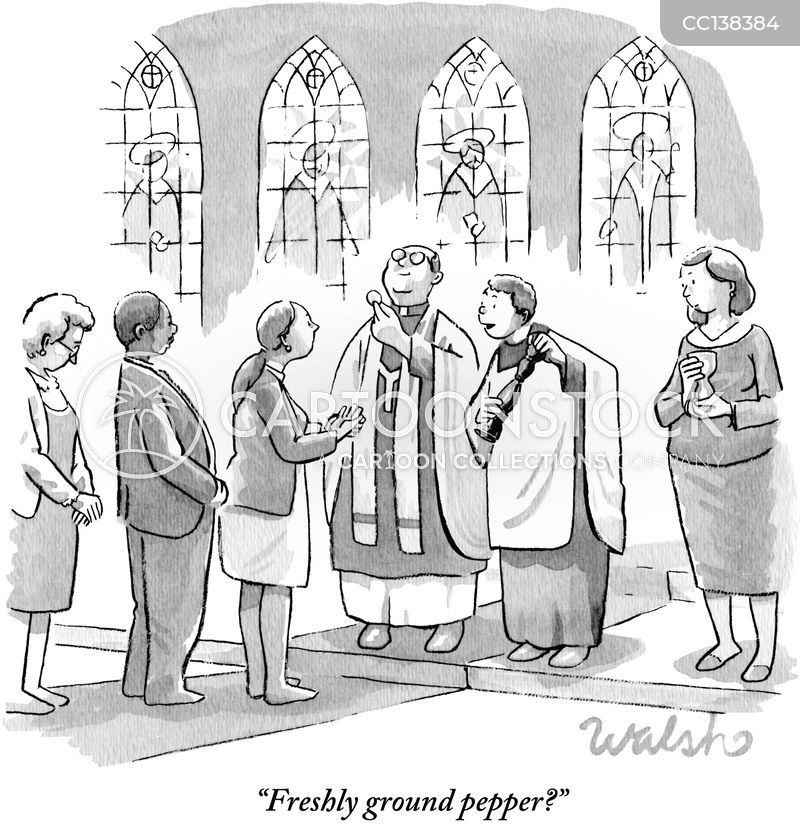communion wafer cartoon