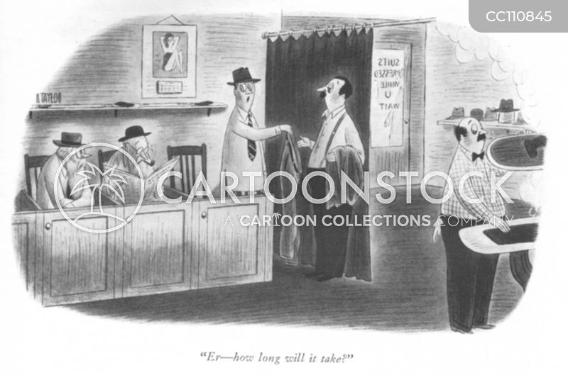 vintage tailor cartoon