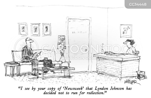 lyndon johnson cartoon