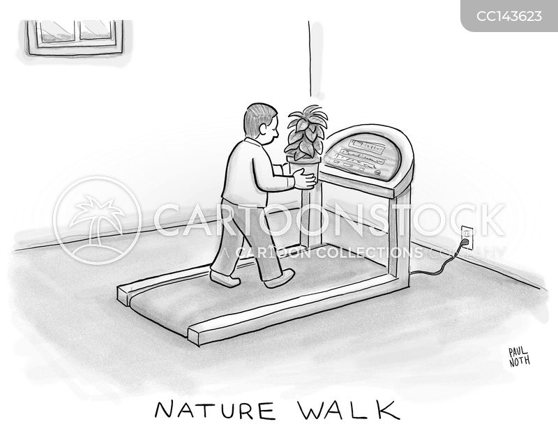 running machine cartoon