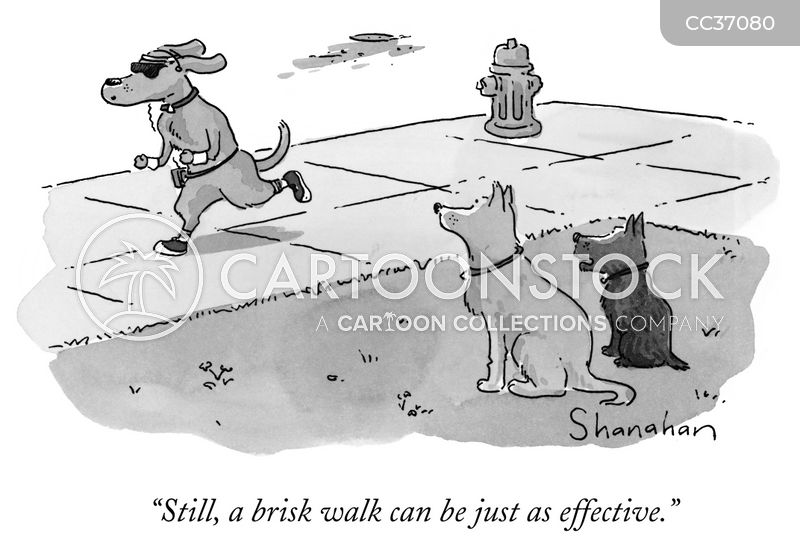 walking cartoon