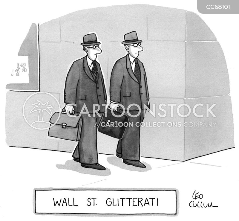stock brokers cartoon
