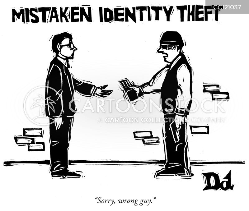 mistaken identity cartoon