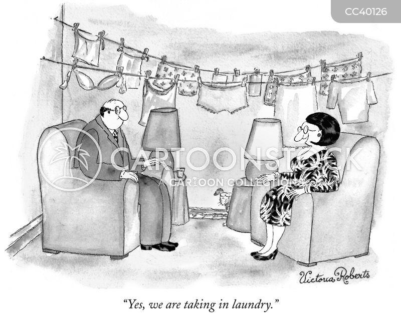laundry line cartoon
