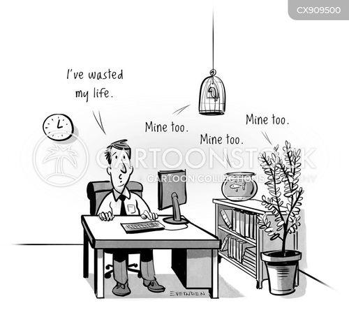wasting cartoon