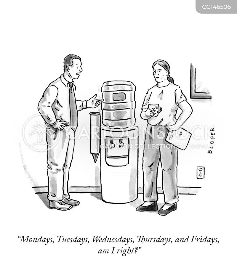 water cooler talk cartoon