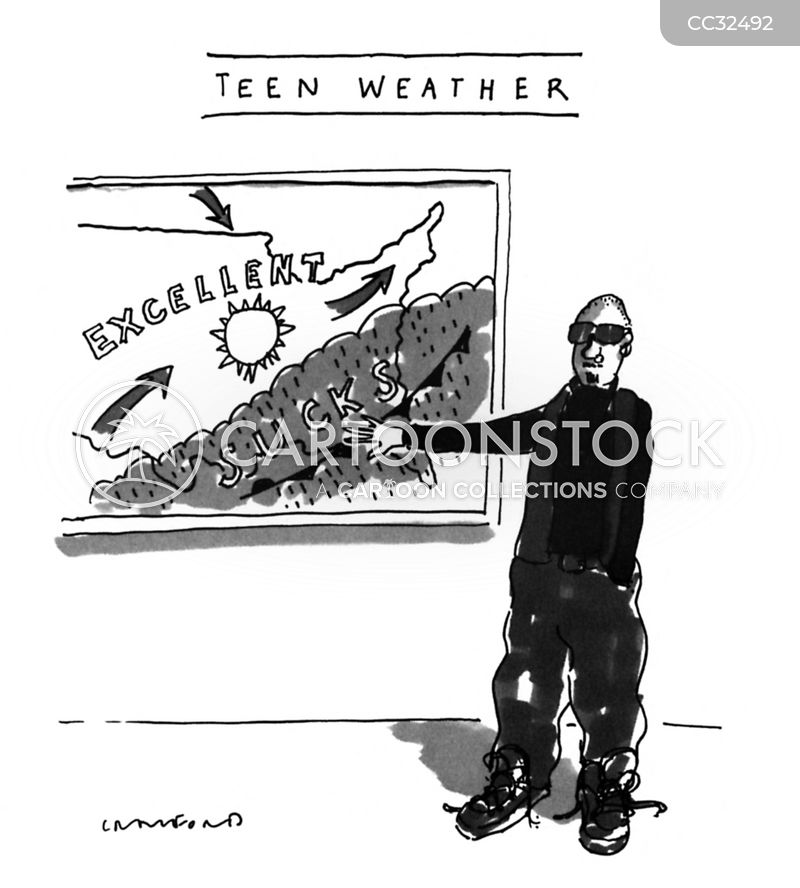 weather reporter cartoon
