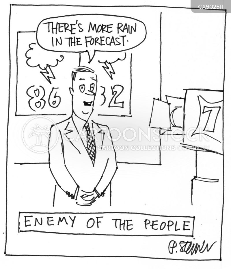 weatherman cartoon