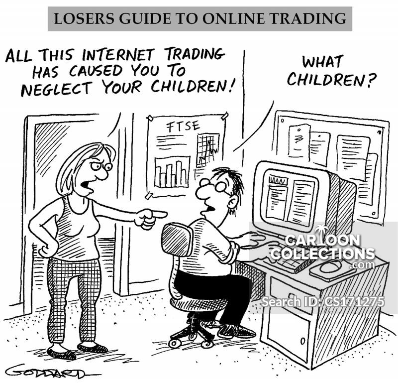 internet trade cartoon