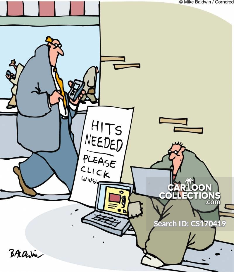 web ad cartoon