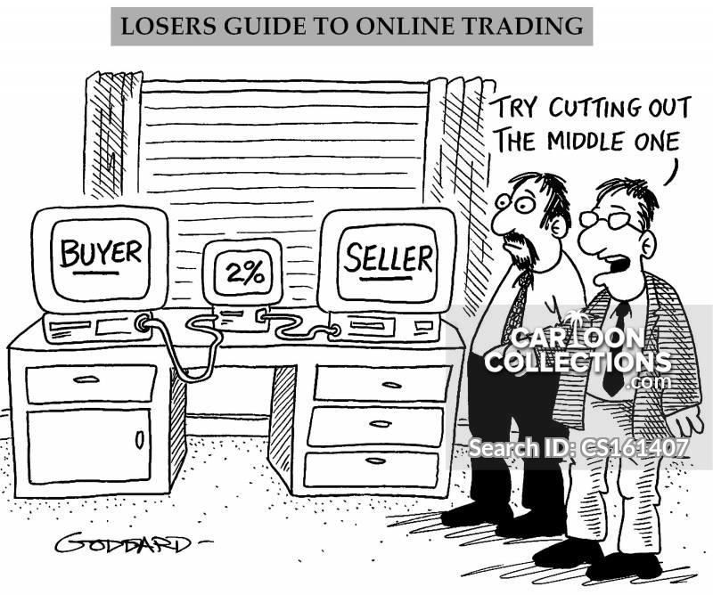 web trader cartoon