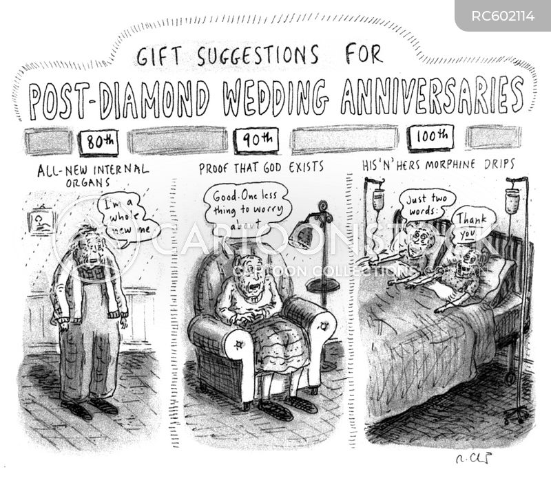 elderly couples cartoon