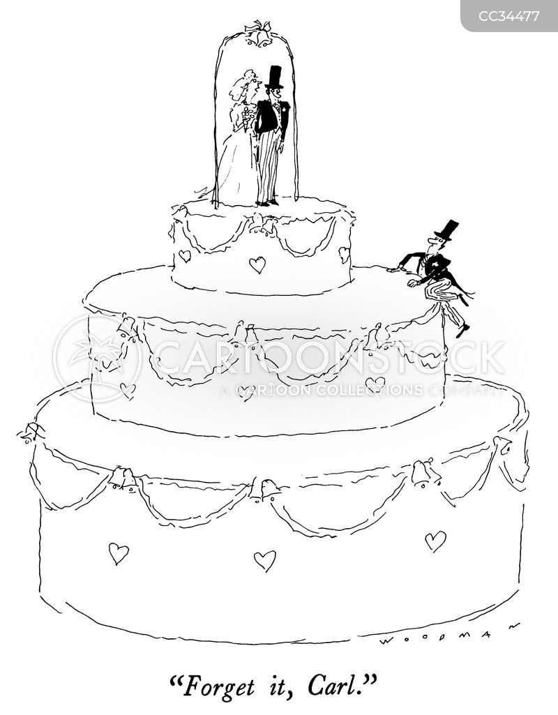 wedding topper cartoon