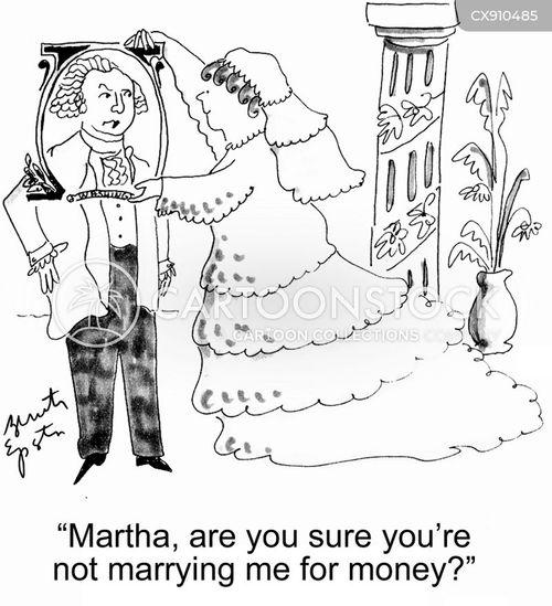 marrying for money cartoon